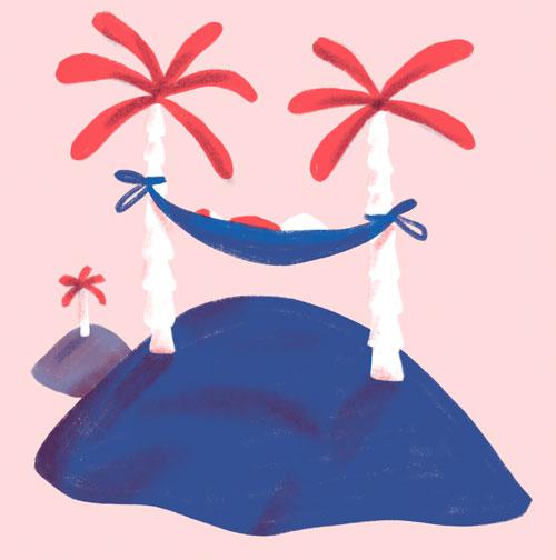 enjoy life geluksroute palmbomen-roze